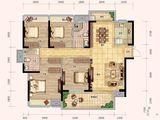 奥林匹克花园5期_4室2厅2卫 建面140平米