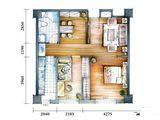 云特区_2室2厅1卫 建面77平米