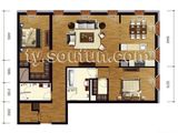 万国城moma_2室2厅2卫 建面148平米
