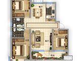 固安阿尔卡迪亚_3室2厅2卫 建面126平米